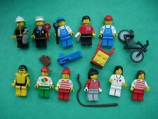 12 x Vintage Lego Minifigures with Accessories - sets 6314 and 6301