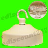 PLAFOND ROSE Fixation Lampe BLANC Support Plaque CROCHET Chandelier Tissu