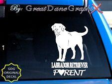 Labrador Retriever PARENT(S) #2 - Vinyl Decal Sticker /Color Choice-HIGH QUALITY