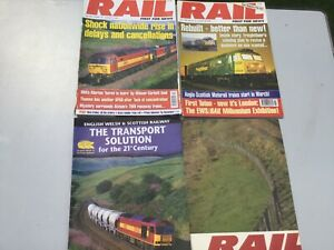 RAIL MAGAZINES - 2 ISSUES - 1999 + 2000 PLUS SUPPLEMENT AND POSTER