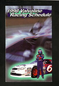 Valvoline Racing--1998 Pocket Schedule--Winston Cup/Cart/NHRA