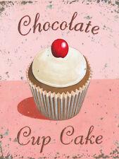 Chocolate Cupcake Bakery Baked Goods Treat Sweets Dessert Food Metal Sign