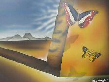 Pintura al óleo abstracta Mariposas contemporáneo Lienzo Arte Moderno Original