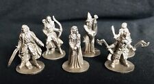 Set of 6 Pewter Lord Of The Rings Hobbit Gandalf Silver Metal Statue Figurines