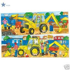 2 Puzzles en bois 2 à 4 ans - Jouer au Puzzle Tractopelle - éducatif -  Neuf**
