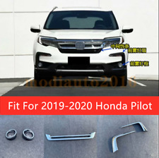 Fits Honda Pilot 2019-2020 Chrome Upgrade Front Grille + Fog Light Covers Trims