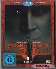 """FRIGHT NIGHT"" - Horror Remake - Colin Farrell - BLU RAY 3D + 2D - 2-Disc-Set"