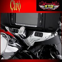 Ciro Chrome Ignition Switch Panel Accent for Harley 14-17 Touring Batwing 42305