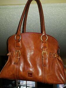 Authentic Dooney & Bourke Handbag - Leather - Brown - Satchel