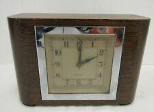 Vintage Genalex Mantel Clock Wooden - SHI P33