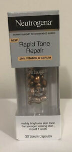 NEUTROGENA RAPID TONE REPAIR 20% VITAMIN C (30) SERUM CAPSULES VISIBLY BRIGHTENS