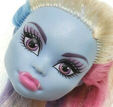 Monster High - Abbey Bominable - Skull Shores - Medium Blue Pink Hair Head Only