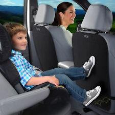 Brica 2 Pack Black Car Minivan SUV Back Seat Protector Cover Kick Mats - 92221