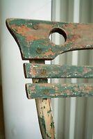 2 antik Jugendstil Gartenstuhl Stuhl Sessel aus Holz Landhaus Biergartenstuhl