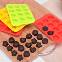 Silicone Star Round Heart Ice Cube Tray Chocolate Cake Baking Soap Jelly Mould T