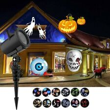 HALLOWEEN HOLIDAY LED LIGHT PROJECTOR WATERPROOF 12 PATTERNS