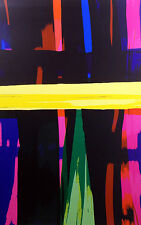 """Ed Felix Borasio """"Eclipse"""" Hand Signed Art Serigraph abstract colors MAKE OFFER!"""