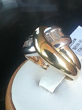 18k.Yellow gold ladiesDiamond Cocktail Ring.Made in Italy.size 7.5