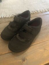 Boys Clarks Black Leather School Shoes Air Learn Size 1.5F