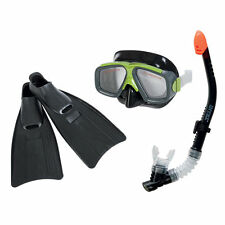 Intex 55959 Taucherset Taucherbrille Schnorchel Flossen Surf Rider