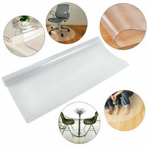 PVC Floor Protection Mat Chair Transparent Matte for Hard Floor Office Anti-Slip