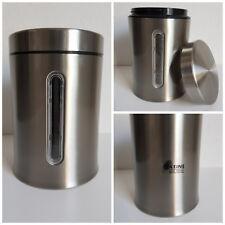 Vorratsdose Rund 1,4 l Kaffedose, Frischhaltedose, Edelstahl-Dose, Fensterdose