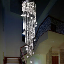 "H94.5"" x W23.6"" Modern Contemporary Lamp Star Rain Drop Crystal Chandelier"
