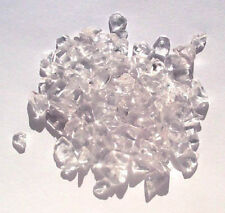 20g of rock crystal gem chips - drilled tumblechip beads for jewellery & crafts