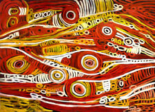 Yellow Original Aboriginal Art