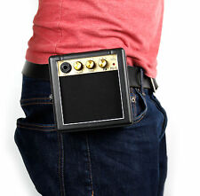 Bray Mini Compact Guitar Amp Belt Clip In Black - 9V Battery Powered (Included)
