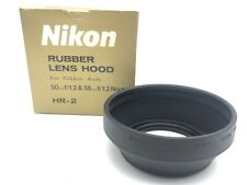 [UNUSED in BOX] NIKON Rubber Hood HR-2 For Nikkor Auto 50mm & 58mm  From JAPAN