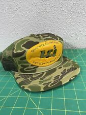 Vintage Excelon Products Graphite Fishing Rods Trucker Camo Snapback Fishing Hat