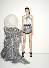 Sass and Bide Black & White Print Shorts - Size UK 6