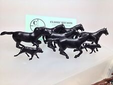 Recast Marx 60mm Horses Fort Apache Cavalry Complete Moldshot. 8 Pieces