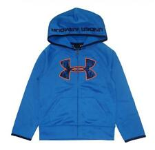 Under Armour Boys Blue & Orange Zip-Up Hoodie Size 5