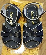 New Sun-San Salt Water Sandals, original style,navy, youth 10,NWT