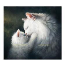 #QZO White Cat 5D Diamond DIY Painting Kit Home Decor Craft 35 X 35cm