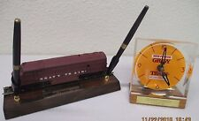 General Foods Gravy Train Dog Food Advertising Clock & RR Engine Desk Pen Set