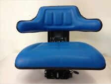 New Replacement Universal Tractor Seat-Blue W/ Shock Absorbing Cylinder System