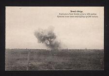37885/ AK - Armée Belge - Explosion d´une bombe prise à 200 mètres. - *