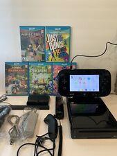 nintendo wii u 32gb bundle 5 games Minecraft Sonic Pikmin Just Dance NO RESERVE