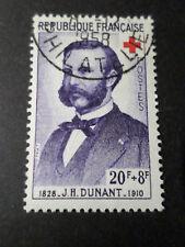 FRANCE timbre 1188, CROIX ROUGE H DUNANT oblitéré CACHET A DATE 1958, RED CROSS