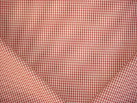1-5/8Y ROBERT ALLEN DURALEE TRUE RED OFF WHITE PICNIC CHECK UPHOLSTERY FABRIC
