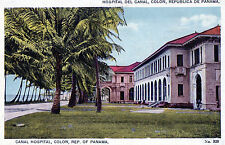 Antique Original Postcard - Canal Hospital, Colon, Rep. Of Panama