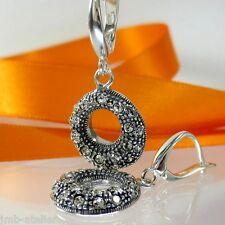 A557 Ohrringe Earrings 925 Silber Schmuck mit Swarovski Elements Kristallsteine