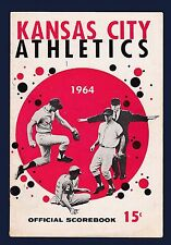 Kansas City A's vs Washington Senators 1964 baseball scorecard - Colavito HR#15