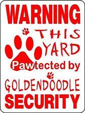 Goldendoodle Dog Security Aluminum Sign Decal D3211