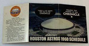 1968 HOUSTON ASTROS pocket schedule