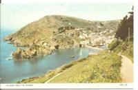 RARE LOVELY 1950'S  POSTCARD,POLPERRO FROM THE WARREN,CORNWALL,RP,1959