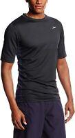 Speedo Men's 169950 Longview Short Sleeve Swim Tee BLACK Size L